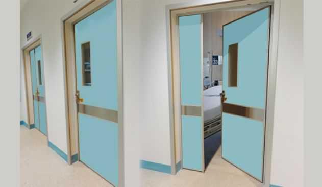 درب های اتاقی بیمارستانی